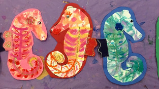 Warm and Cool Colored Seahorses