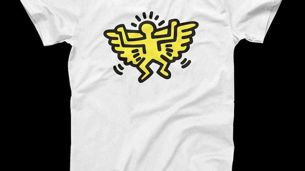 Keith Haring Angel Icon, 1990 Street Art T-Shirt
