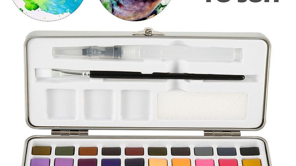 50Pcs Solid Watercolor Paint Set