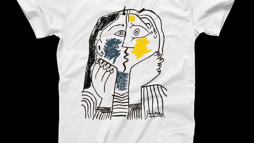 Pablo Picasso the Kiss 1979 Artwork T-Shirt