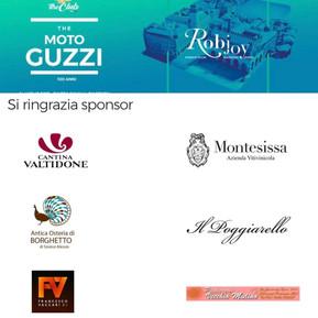 100esimo anniversario Moto Guzzi - Ringraziamenti sponsor