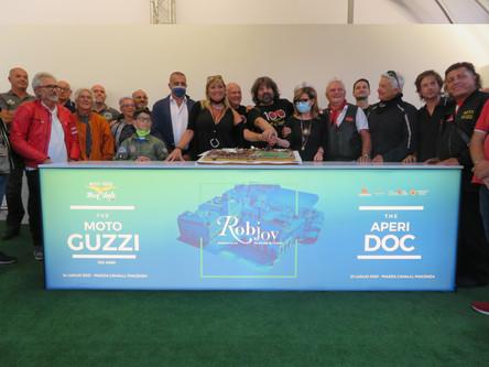 100esimo anniversario Moto Guzzi in Piazza Cavalli