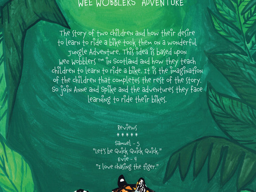 The back of Wee Wobblers Adventures in the Jungle