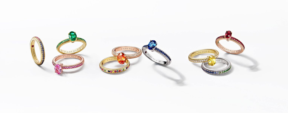 FABERGE NEW COLOURS OF LOVE RINGS UNVEILED