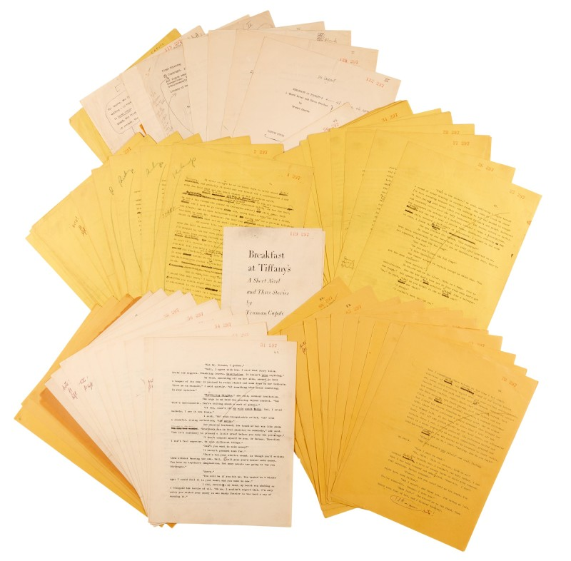 TRUMAN CAPOTE'S FINAL TYPESCRIPT FOR BREAKFAST AT TIFFANY'S SELLS FOR £377,000 AT SOTHEBY'S