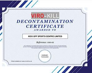 Decontamination Certificate