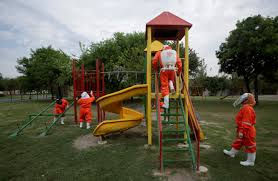 Disinfecting a children's play area..jpg