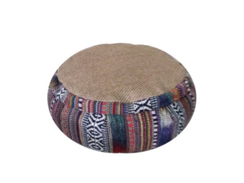 Meditation-Yoga  zafu from organic cotton and buckwheat husks