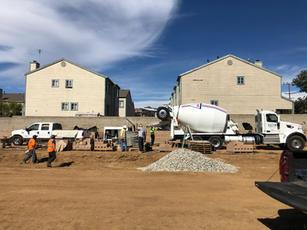 Pumping Retaining Wall Concrete