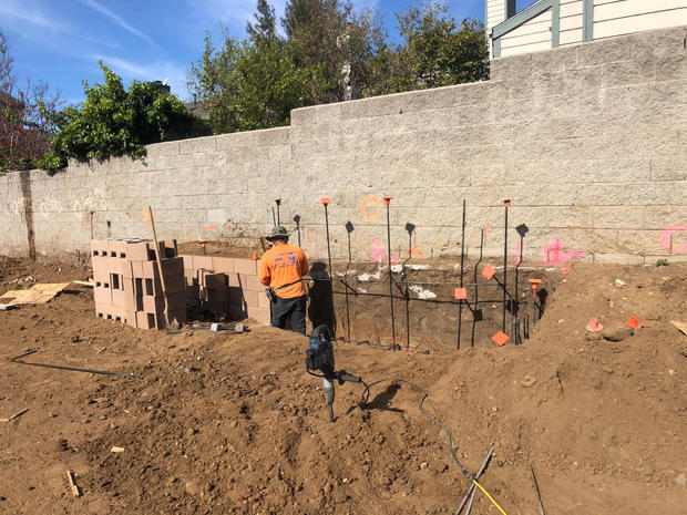 Construction of Retaining Wall