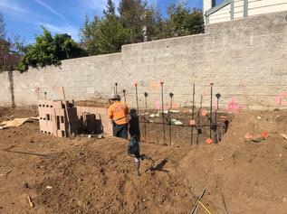 Construction of Retaining Wall