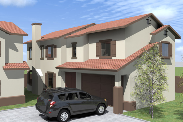 PLAN 2 FRONT RIGHT ELEVATION