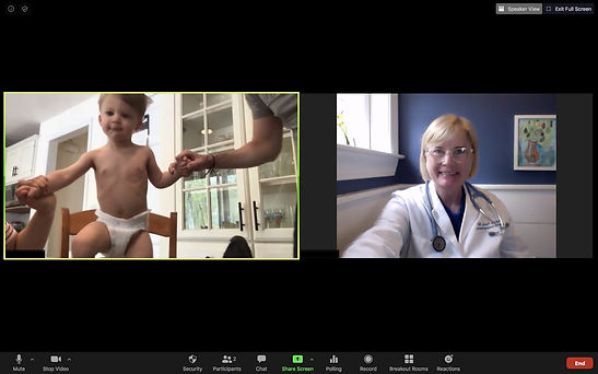 Dr. Fearon a Brown Emergency Medicine TeleCare physicians providing pediatric urgent telemedicine.