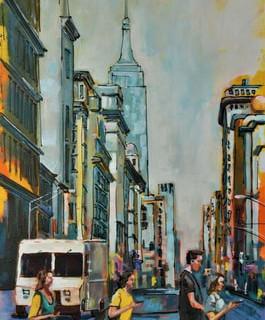 Manhattan/24x48/Acrylic on canvas
