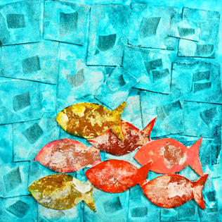 Fishes 24x24  no:5