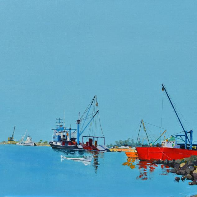 Fishboat Marine/20x36/Acrylic on canvas