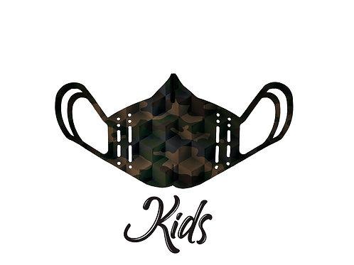 Mascherina KIDS - Camouflage Verde