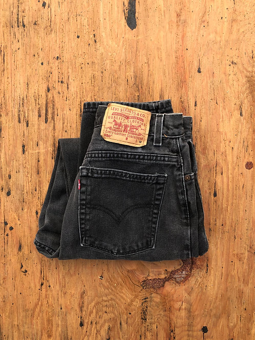 Vintage Levi's 550 Faded Black Denim