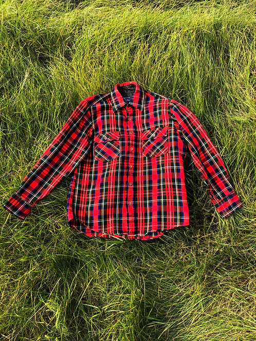 Vintage JCP Plaid Flannel Shirt
