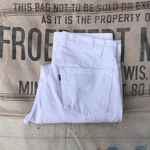 Vintage Levi's 501 White Button Fly Denim