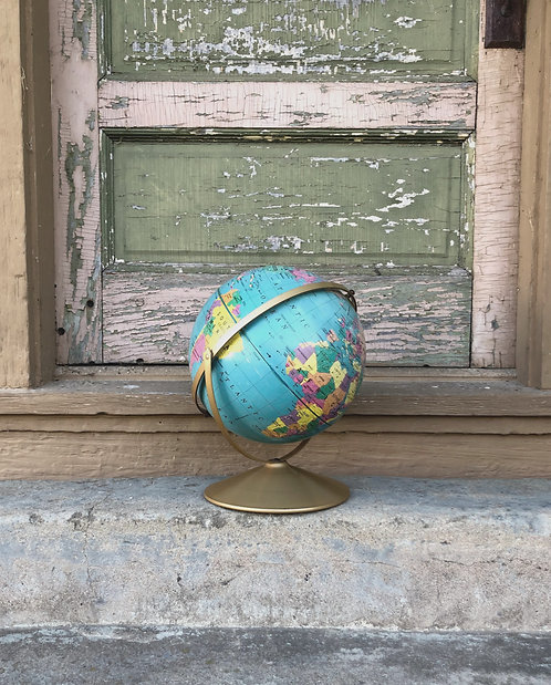 Vintage 60's Raised Dual Axis Rand McNally Globe