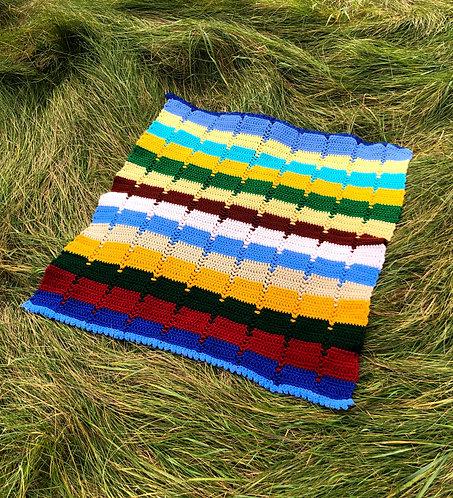 Vintage Afghan Camp Blanket