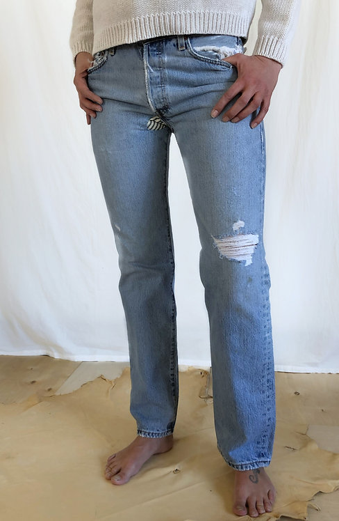 Thrashed + Patched Levi's 501XX