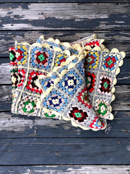 Handmade Quilted Afghan Blanket