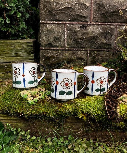 Set of 3 Vintage Ceramic Mugs