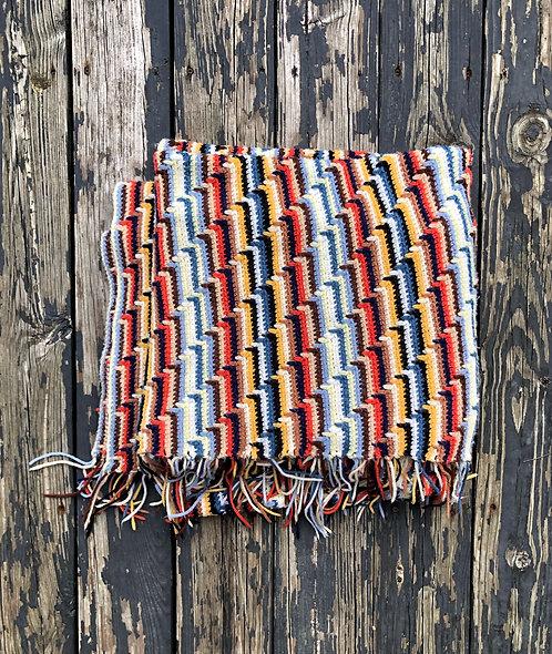 Vintage Handmade Navajo Print Blanket