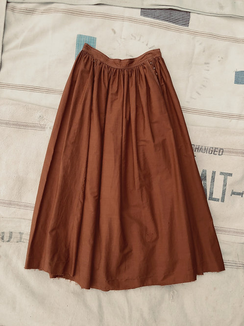 Vintage Handmade Cotton Skirt