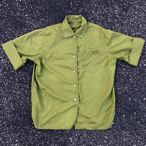 Women's Vintage 60's SS Button Down