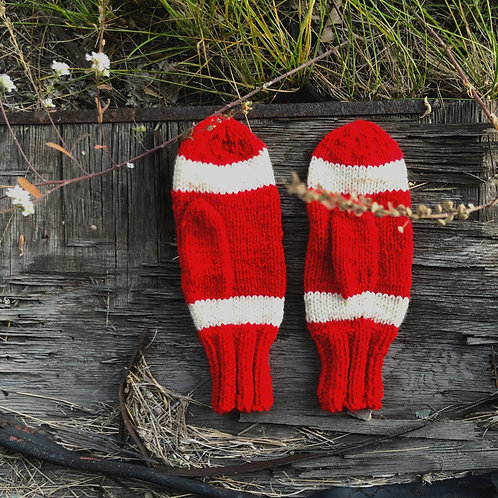 Knit by Hand Mittens