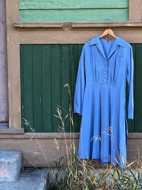 1940's Vintage Sanforized Cotton Uniform Dress