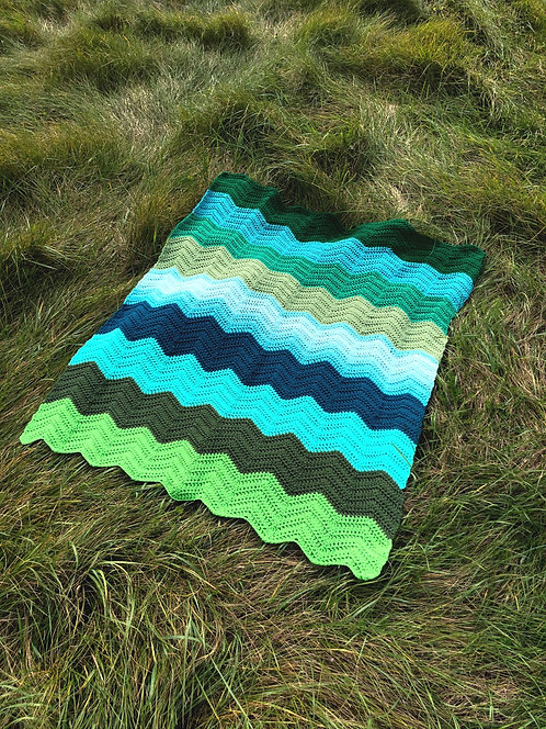 Vintage Handmade Afghan Blanket
