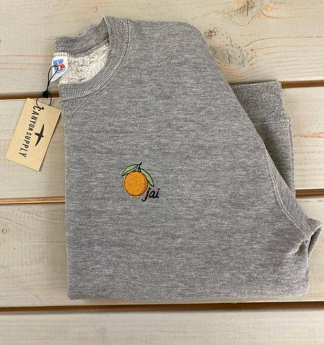 OJAI Embroidered Vintage Sweatshirt   Heather Grey