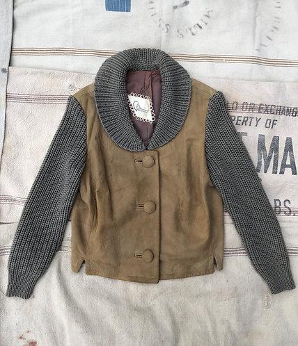 Vintage 50s Suede + Wool Jacket
