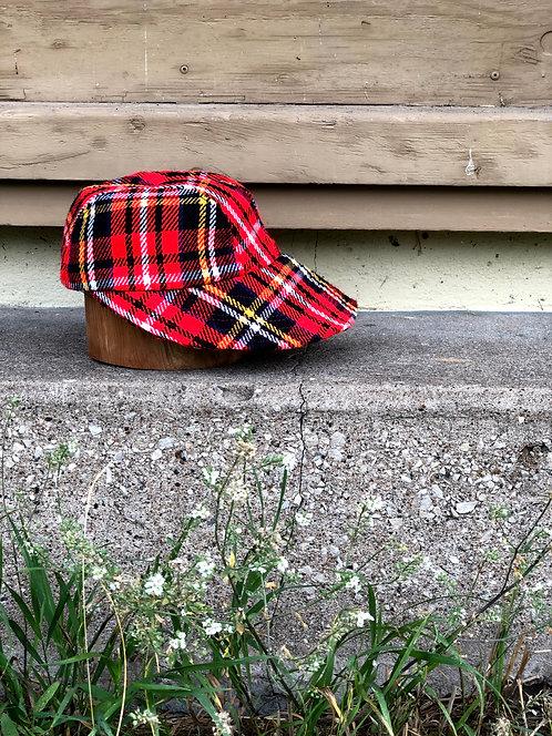Vintage Long Brim Plaid Cap