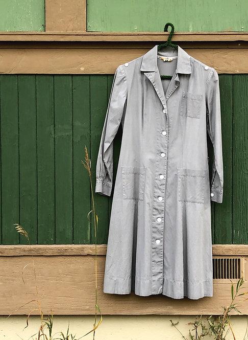 Vintage 40's Cotton Chore Coat Dress