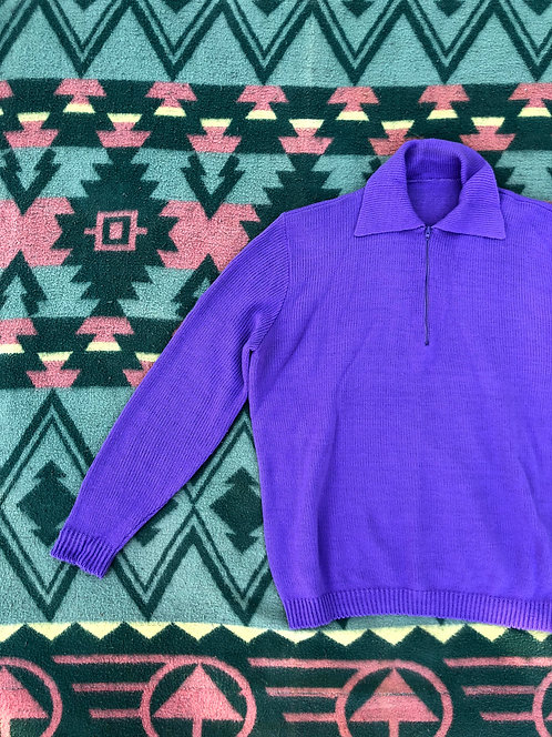 60's 1/4 Zip Sweater