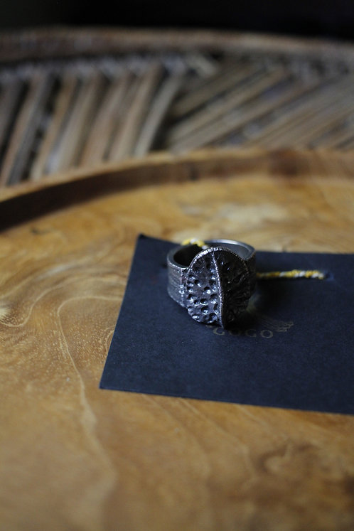 Alligator Scute Ring - Sterling Silver (Large)