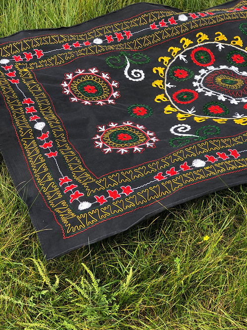 Vintage Embroidered Beach Blanket