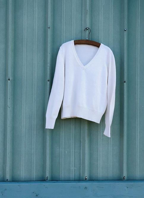 Vintage St. John's Bay Cotton V-Neck Sweater