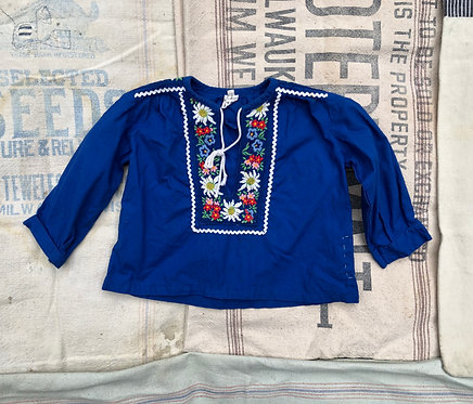 Hand Repaired Kids Vintage Embroidered Top