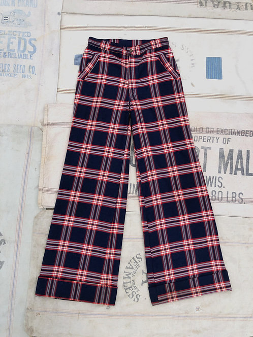 Vintage 70's Checkered Bell Bottoms