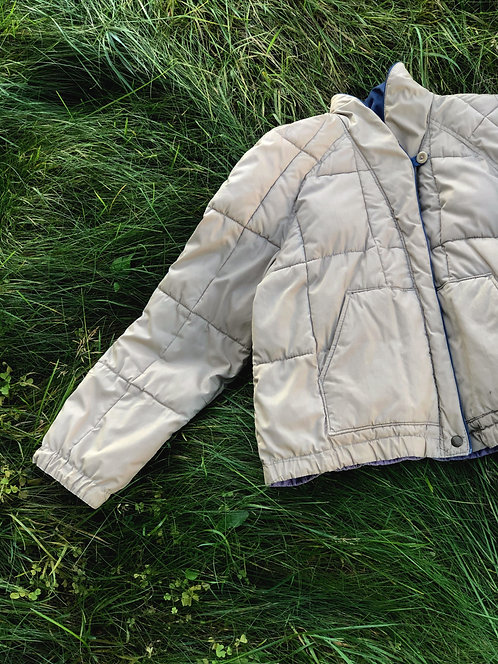 Vintage White Stag Puffer Jacket