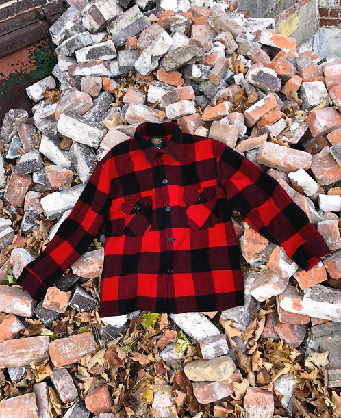 Wool Button Down Shirt Jacket