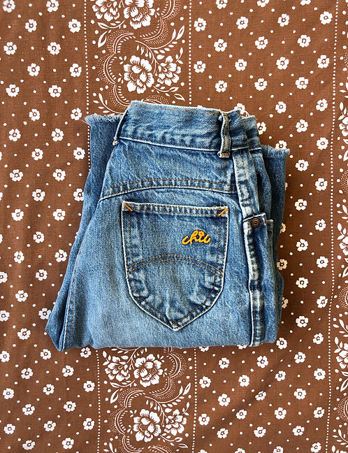 Well Worn Vintage 70's Chic Denim Bottoms