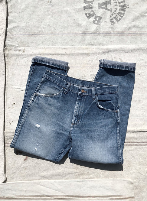 Well Worn Vintage Rustler Denim