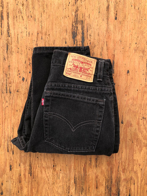 Vintage Levi's 512 Black Denim